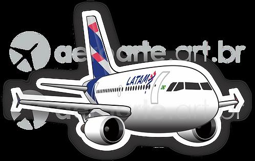 Adesivo Silhueta Airbus A319 CFM LATAM