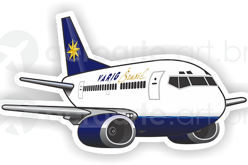 Adesivo Silhueta Boeing 737-300 VARIG 2ª Pintura