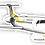Thumbnail: Adesivo Silhueta Embraer ERJ-145 Passaredo