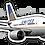 Thumbnail: Adesivo Silhueta Boeing 777 United 3ª Pintura