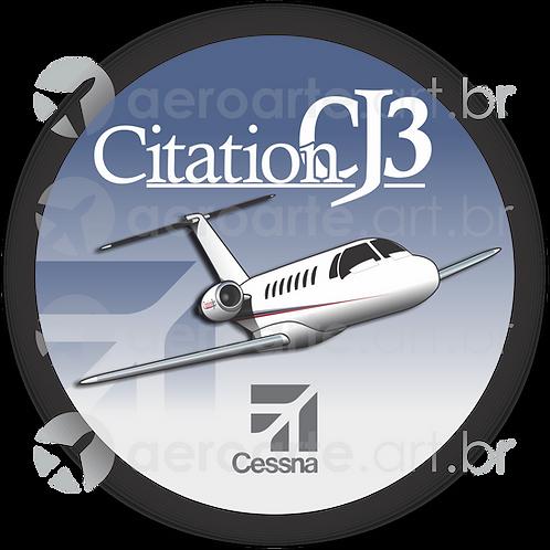 Adesivo Bolacha Cessna Citation CJ3