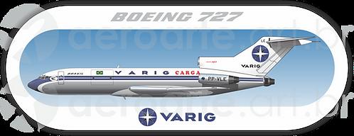 Adesivo Perfil Boeing 727-100 VARIG CARGO