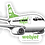 Thumbnail: Adesivo Silhueta Boeing 737-300 Webjet