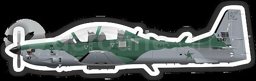 Adesivo Perfil Embraer EMB-314 Força Aérea Brasileira