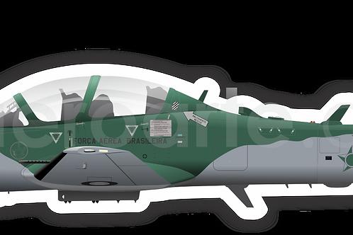 Adesivo Perfil A-29 Força Aérea Brasileira