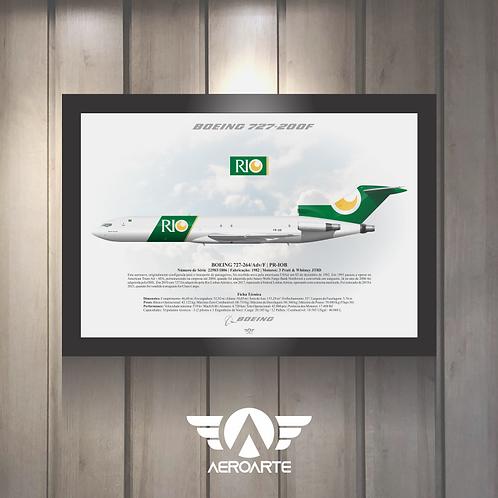 Pôster Perfil Boeing 727-200F RIO