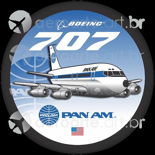 Adesivo Bolacha Boeing 707 PanAm