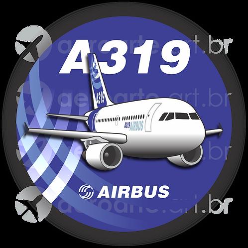 Adesivo Bolacha Airbus A319 CFM