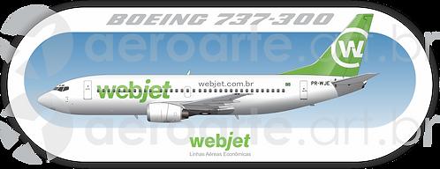 Adesivo Perfil Boeing 737-300 WEBJET