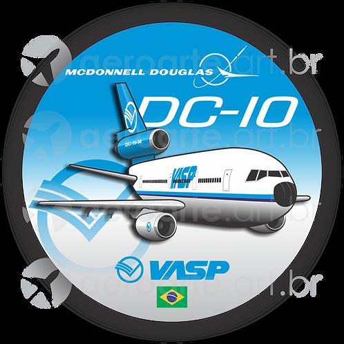 Adesivo Bolacha Douglas DC-10 VASP