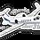 Thumbnail: Adesivo Silhueta Learjet 31A