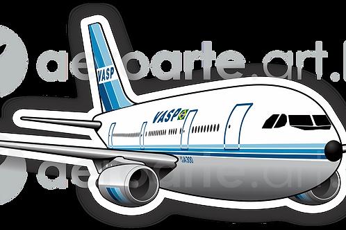 Adesivo Silhueta Airbus A300 VASP 1ªPintura