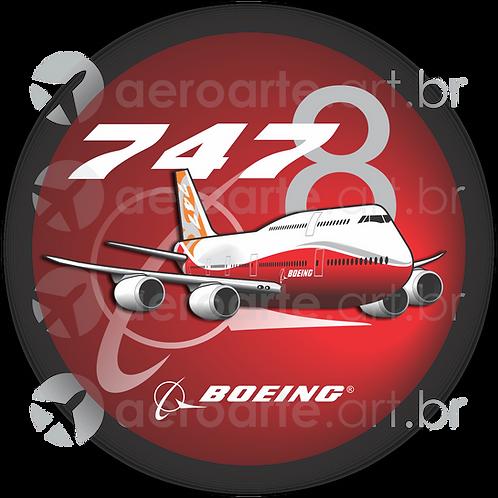 Adesivo Bolacha Boeing 747-8