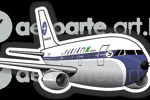Adesivo Silhueta Airbus A300 VARIG
