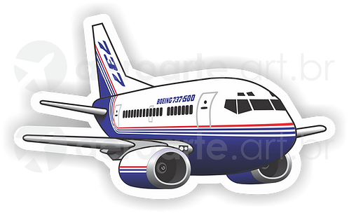 Adesivo Silhueta Boeing 737-500