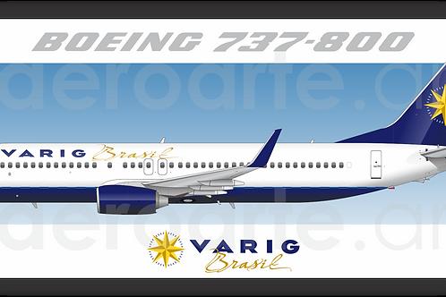 Adesivo Perfil Boeing 737-800 VARIG