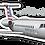 Thumbnail: Adesivo Silhueta Embraer ERJ-145 American Eagle