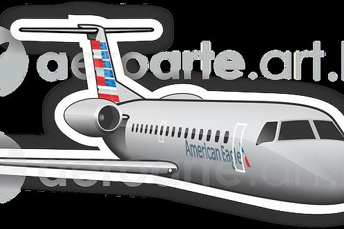 Adesivo Silhueta Embraer ERJ-145 American Eagle