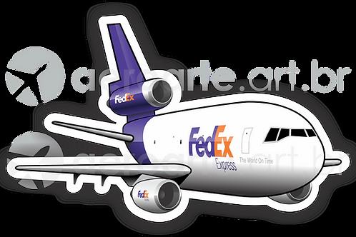 Adesivo Silhueta Douglas DC-10 FedEx