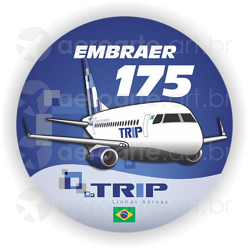 Adesivo Bolacha Embraer 175 TRIP