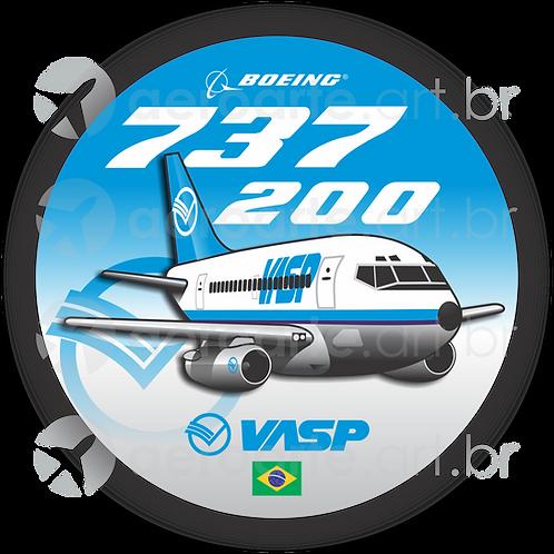 Adesivo Bolacha Boeing 737-200 VASP