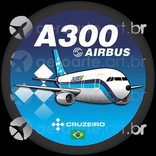 Adesivo Bolacha Airbus A300 CRUZEIRO