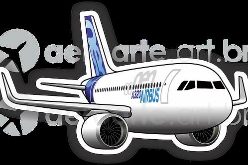 Adesivo Silhueta Airbus A320 NEO