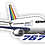 Thumbnail: Adesivo Silhueta Boeing 767 Transbrasil Azul