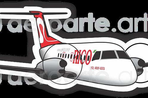 Adesivo Silhueta Embraer EMB-120 Brasília Rico