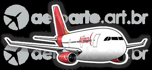 Adesivo Silhueta Airbus A330 Avianca Brasil