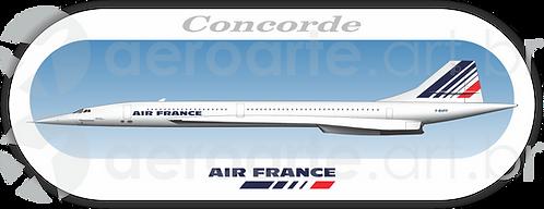 Adesivo Perfil Aérospatiale/BAC ConcordeAir France