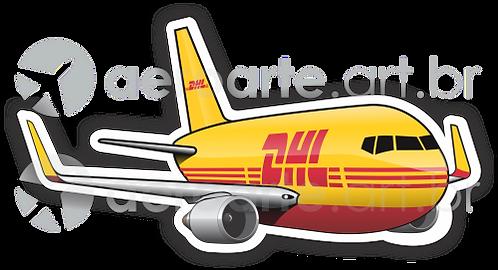 Adesivo Silhueta Boeing 767-300 DHL