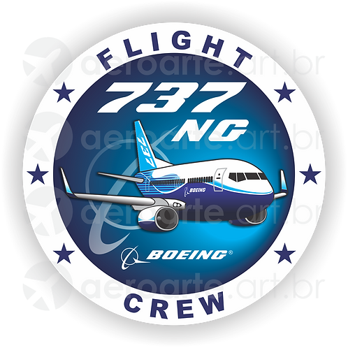 Adesivo Bolacha Boeing 737NG (promoção)