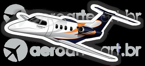 Adesivo Silhueta Embraer Phenom 100