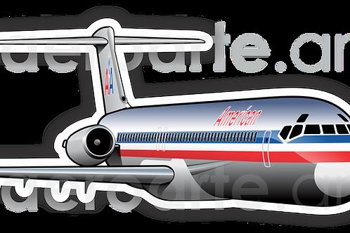 Adesivo Silhueta McDonnell Douglas MD-80 American Airlines