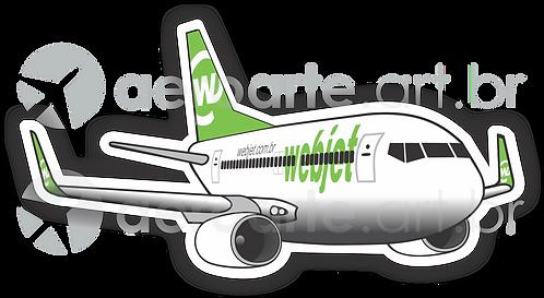 Adesivo Silhueta Boeing 737-800 Webjet
