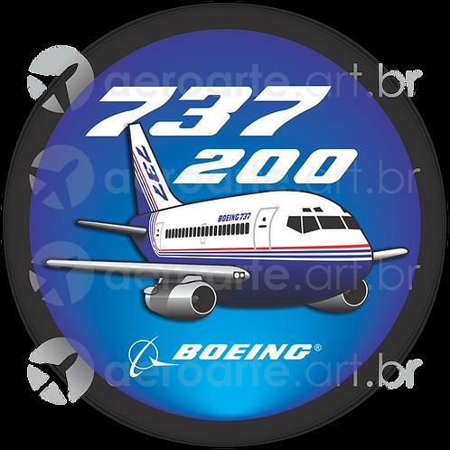 Adesivo Bolacha Boeing 737-200