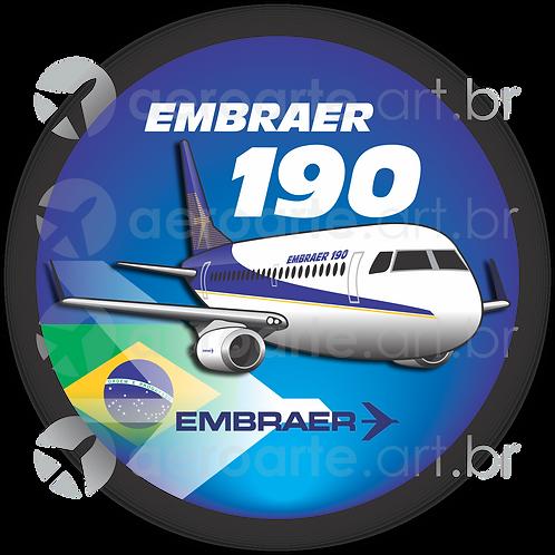 Adesivo Bolacha Embraer 190