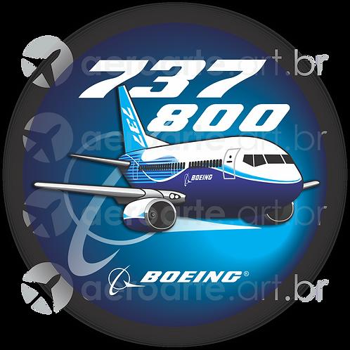Adesivo Bolacha Boeing 737-800