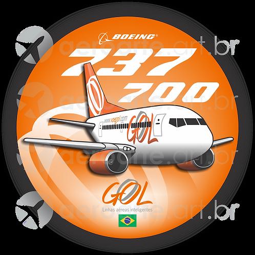 Adesivo Bolacha Boeing 737-700 GOL 2ª Pintura