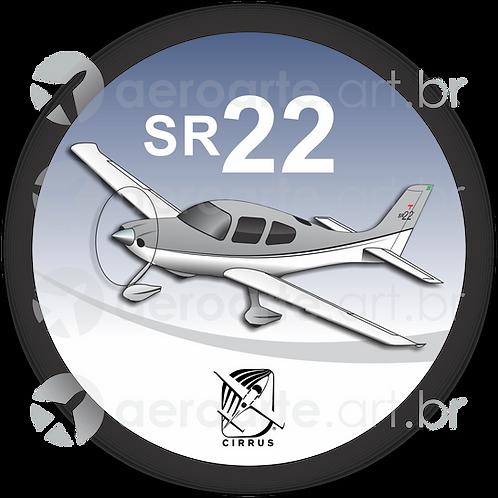 Adesivo Bolacha Cirrus SR22