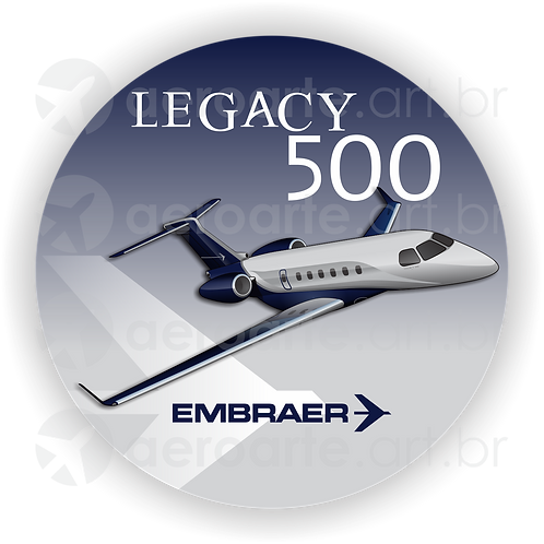 Adesivo Bolacha Embraer Legacy 500
