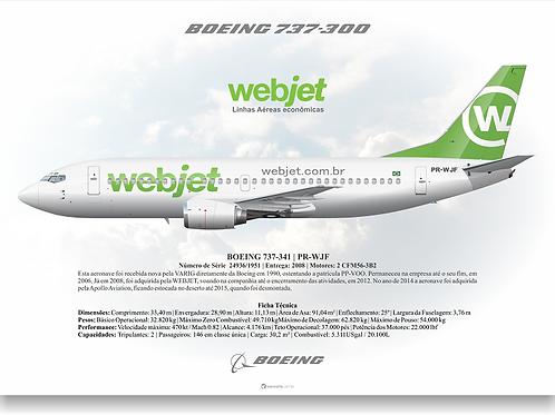 Pôster Perfil Boeing 737-300WEBJET