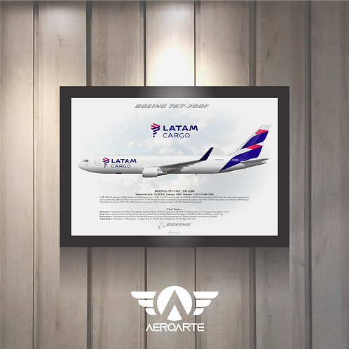 Pôster Perfil Boeing 767-300F LATAM CARGO