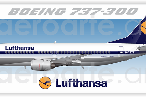 Adesivo Perfil Boeing 737-300 LUFTHANSA - OLD COLORS