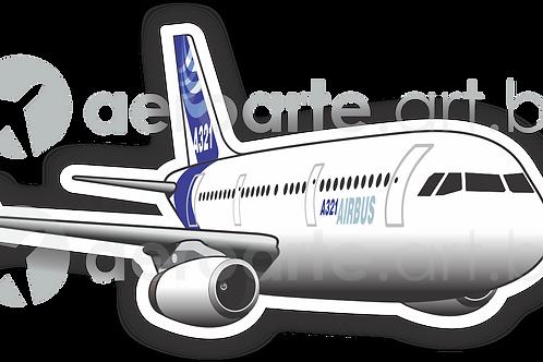 Adesivo Silhueta Airbus A321 IAE