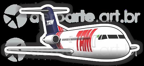 Adesivo Silhueta Fokker 100 TAM