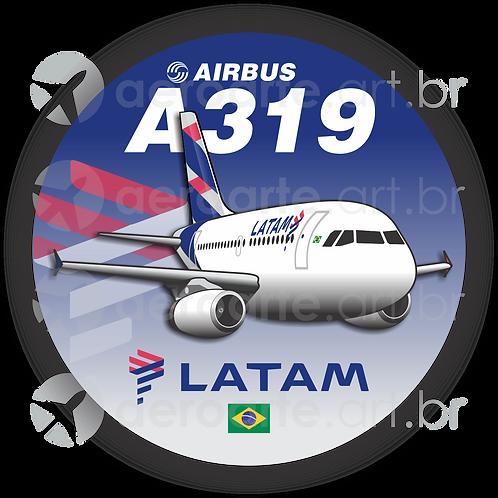Adesivo Bolacha Airbus A319 IAE LATAM