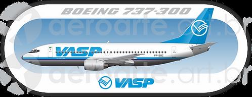 Adesivo Perfil Boeing 737-300 VASP
