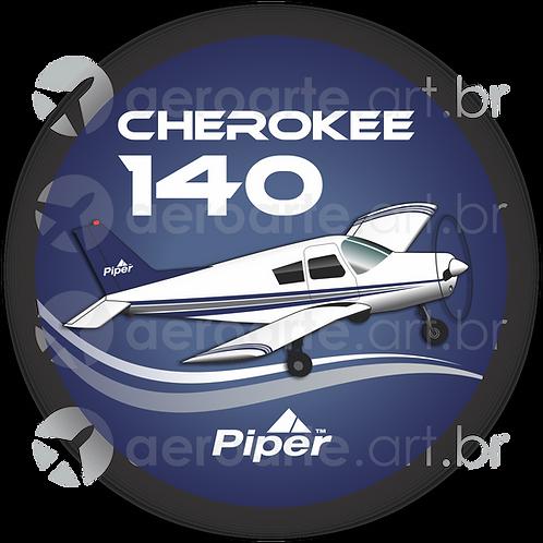 Adesivo Bolacha Piper Cherokee 140